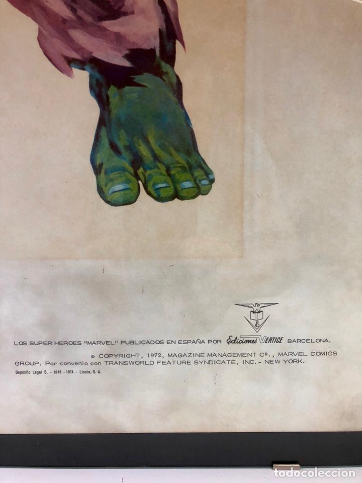 Cómics: ORIGINAL Cartel Poster LA MASA / Lopez Espi / Ediciónes Vértice / Marvel Comics/ 57x43 - Foto 3 - 140325326