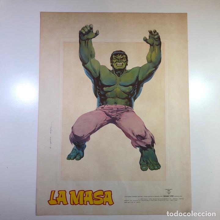 Cómics: ORIGINAL Cartel Poster LA MASA / Lopez Espi / Ediciónes Vértice / Marvel Comics/ 57x43 - Foto 7 - 140325326