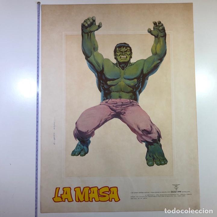 Cómics: ORIGINAL Cartel Poster LA MASA / Lopez Espi / Ediciónes Vértice / Marvel Comics/ 57x43 - Foto 8 - 140325326