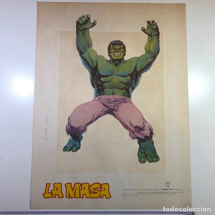 Cómics: ORIGINAL Cartel Poster LA MASA / Lopez Espi / Ediciónes Vértice / Marvel Comics/ 57x43 - Foto 9 - 140325326