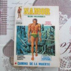 Cómics: NAMOR V 1 Nº 17 CON SU HOJA DE GALERIA PERSONAJES MARVEL. Lote 140369358