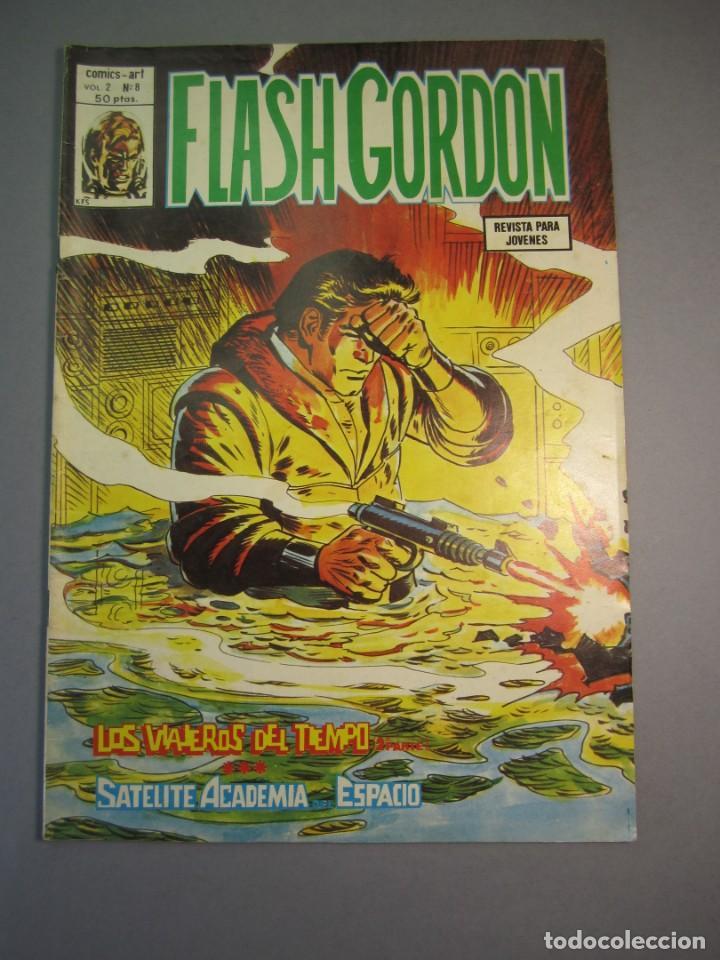 FLASH GORDON (1980, VERTICE) -V.2- 8 · 30-V-1980 · LOS VIAJEROS DEL TIEMPO / SATÉLITE ACADEMIA DEL E (Tebeos y Comics - Vértice - Flash Gordon)