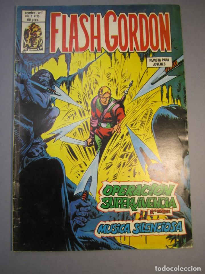 FLASH GORDON (1980, VERTICE) -V.2- 15 · 15-X-1980 · OPERACIÓN SUPERVIVENCIA (2ª PARTE) / MÚSICA SILE (Tebeos y Comics - Vértice - Flash Gordon)