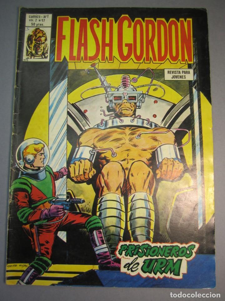 FLASH GORDON (1980, VERTICE) -V.2- 17 · 15-XI-1980 · PRISIONEROS DE URM (Tebeos y Comics - Vértice - Flash Gordon)