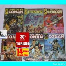 Cómics: LOTE DE LA ESPADA SALVAJE DE CONAN - NÚMEROS 27 - 30 - 31 - 32 - 45 -108 - 14 EUROS. Lote 141612786
