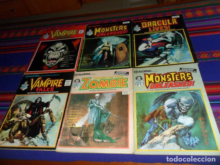 VÉRTICE VOL. 1 ESCALOFRÍO NºS 3, 5, 10, 11, 12 Y 13. 30 PTS. 1974. REGALO Nº 8. BUEN ESTADO. (Tebeos y Comics - Vértice - Terror)