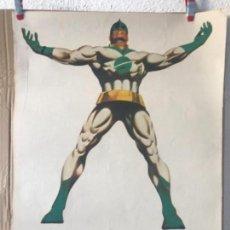 Cómics: CARTEL SUPERHEROES MARVEL , CAPITAN MARVEL , 1972, VERTICE ,ORIGINAL. Lote 141883962