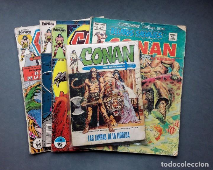 LOTE 4 TEBEOS CONAN,VÉRTICE,FORUM.. (Tebeos y Comics - Vértice - Conan)