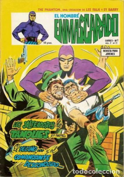 EL HOMBRE ENMASCARADO-VÉRTICE- V-2 - Nº 11 -LOS SALTEADORES DE TANQUES-1980-MUY DIFÍCIL-LEA-4559 (Tebeos y Comics - Vértice - Hombre Enmascarado)