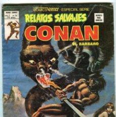 Cómics: CONAN EL BARBARO RELATOS SALVAJES EL CUBIL DEL GUSANO DE HIELO 4 ED. VERTICE VOL. 1 Nº 74 AÑO 1979. Lote 143551634