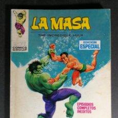 Cómics: MUY BUEN ESTADO V. VOLUMEN 1 LA MASA HULK Nº 8 VÉRTICE MARVEL. Lote 143580014