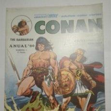 Cómics: CONAN EL BÁRBARO ANUAL 1980 NUMERO ESPECIAL 70 PÁGINAS TAMAÑO GIGANTE. Lote 144729490