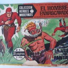 Cómics: EL HOMBRE ENMASCARADO Nº 5 AÑO 1958 (LA VUELTA DEL FANTASMA ). Lote 145098062