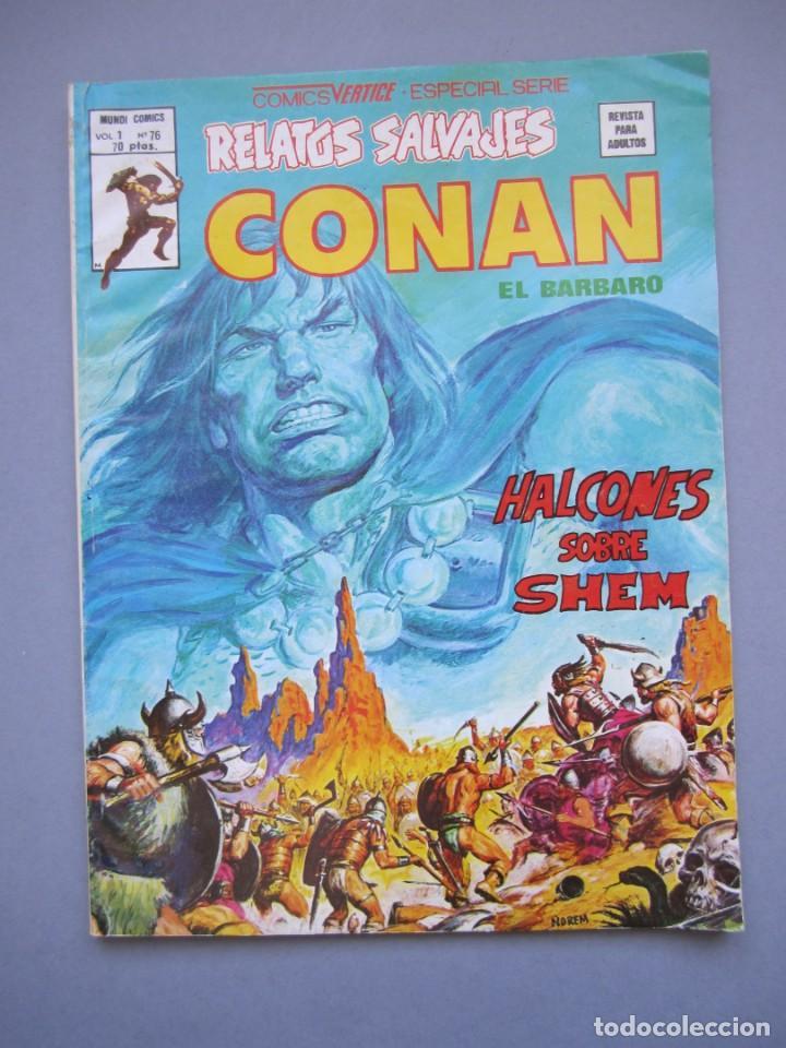 RELATOS SALVAJES (1974, VERTICE) 76 · 30-III-1980 · HALCONES SOBRE SHEM (Tebeos y Comics - Vértice - Relatos Salvajes)