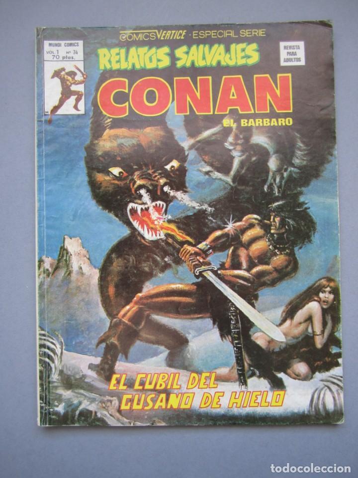 RELATOS SALVAJES (1974, VERTICE) 74 · 28-II-1980 · EL CUBIL DEL GUSANO DE HIELO (Tebeos y Comics - Vértice - Relatos Salvajes)