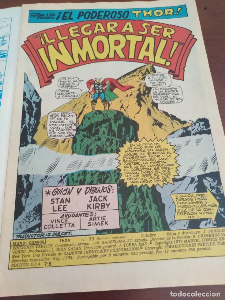 Cómics: THOR DE MUNDI COMICS VOLUMEN 2 NÚMERO 50. 42 Páginas. - Foto 3 - 146217914