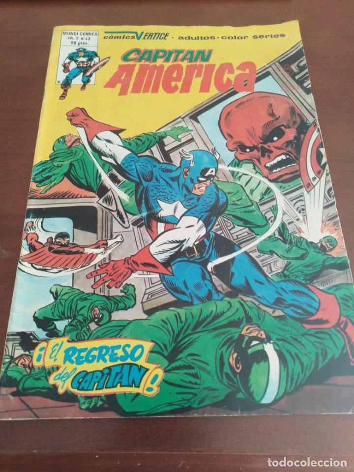 COMIC EL CAPITAN AMERICA DE MUNDI COMICS VOLUMEN 3 NÚMERO 43. COMICS VÉRTICE ADULTOS COLOR SERIES. (Tebeos y Comics - Vértice - Thor)