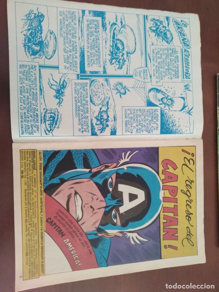 Cómics: COMIC EL CAPITAN AMERICA DE MUNDI COMICS VOLUMEN 3 NÚMERO 43. COMICS VÉRTICE ADULTOS COLOR SERIES. - Foto 2 - 146219018