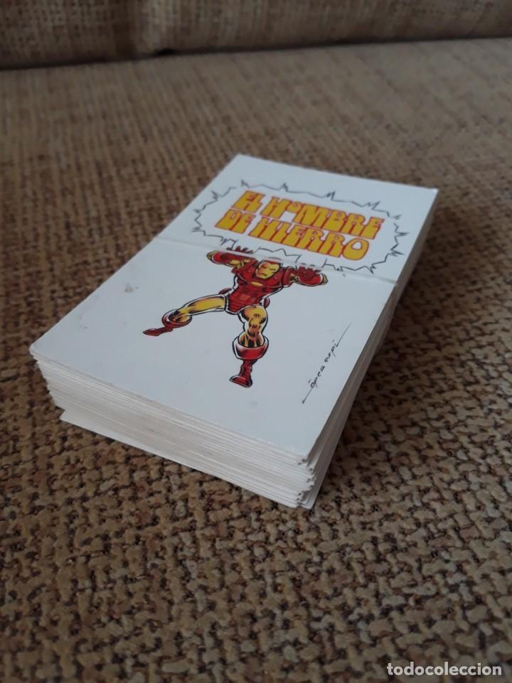 EL HOMBRE DE HIERRO - PORTADAS DE VÉRTICE EN 40 TARJETAS (TRADING CARDS) - TEBEO VIVO (Tebeos y Comics - Vértice - Hombre de Hierro)