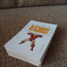 Cómics: EL HOMBRE DE HIERRO - PORTADAS DE VÉRTICE EN 40 TARJETAS (TRADING CARDS) - TEBEO VIVO. Lote 146350342
