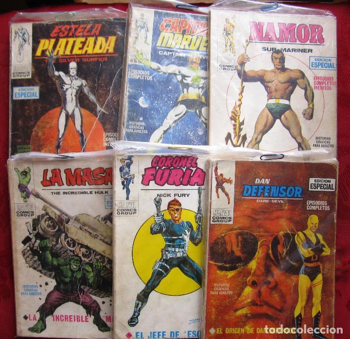 VERTICE:DAN DEFENSOR,NAMOR,ESTELA PLATEADA,CORONEL FURIA,CAPITAN MARVEL,LA MASA.NUMEROS 1 (Tebeos y Comics - Vértice - V.1)