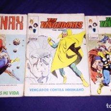Cómics: 3 TOMOS MARVEL COMICS GROUP.VERTICE. LOS VENGADORES Y TENAX. Lote 146658466