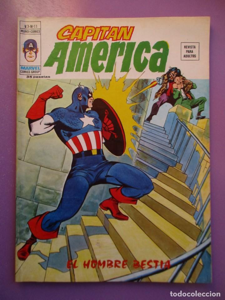 CAPITAN AMERICA Nº 11 VERTICEVOLUMEN 3 ¡¡¡¡¡¡¡MUY BUEN ESTADO !!!!! (Tebeos y Comics - Vértice - V.1)