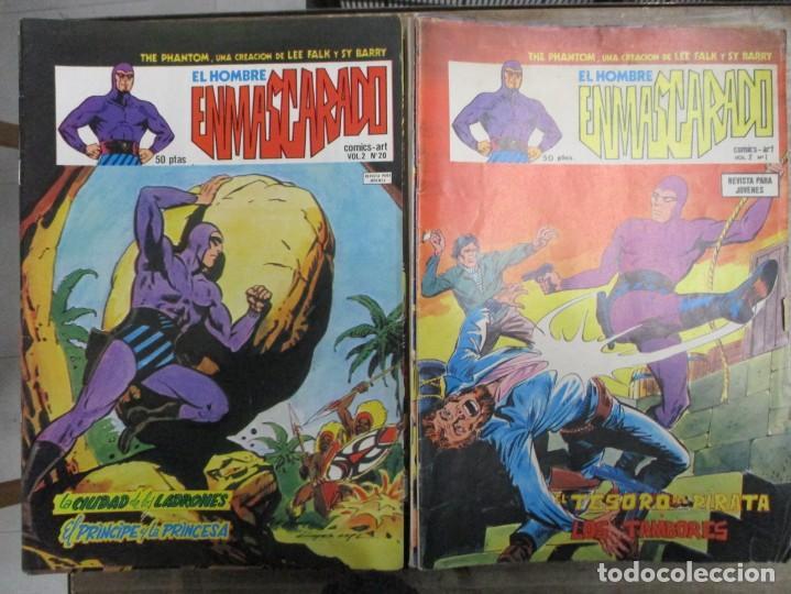 Cómics: COLECCION COMPLETA EL HOMBRE ENMASCARADO - 43 NUMEROS - V 2 - VOL 2 VERTICE - 1980 - Foto 2 - 147508366
