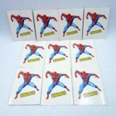 Cómics: 10 X PEGATINA ADHESIVO SPIDERMAN. LOPEZ ESPÍ. 9,5X13,5 CM. VÉRTICE / CALCOMANÍAS ORTEGA, 1973. OFRT. Lote 206843743