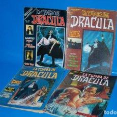 Cómics: LOTE COMICS VERTICE - ESCALOFRIO-LA TUMBA DE DRACULA COMPLETA Nº 1-2-3-4 . 1980. Lote 147942150
