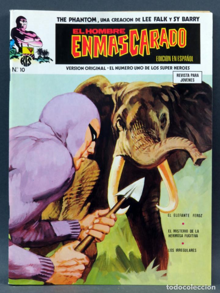 EL HOMBRE ENMASCARADO Nº 10 COMICS ART VÉRTICE 1974 EL ELEFANTE FEROZ (Tebeos y Comics - Vértice - Hombre Enmascarado)
