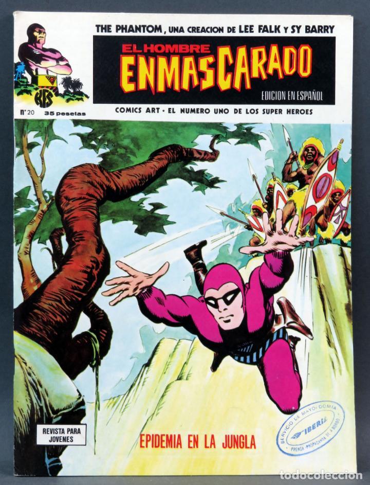 EL HOMBRE ENMASCARADO Nº 20 COMICS ART VÉRTICE 1975 EPIDEMIA EN LA JUNGLA (Tebeos y Comics - Vértice - Hombre Enmascarado)