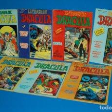 Cómics: LOTE 7 COMICS LA TUMBA DE DRACULA - ESCALOFRIÓ - 1981 . VERTICE-1 AL 7-COMPLETA VOL2. Lote 148095714