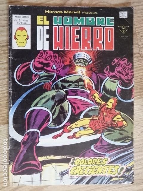 HEROES MARVEL MUNDI COMICS VOL 2 Nº 62 EL HOMBRE DE HIERRO DOLORES CRECIENTES EDICIONES VERTICE 1975 (Tebeos y Comics - Vértice - Hombre de Hierro)