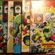 Cómics: LOTE 6 COMICS DE LOS DEFENSORES DE MARVEL MUNDICOMICS VERTICE, CASI COMPLETA. Lote 149246870