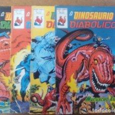 Cómics: EL DINOSAURIO DIABOLICO COMPLETA 4 NUMEROS VOL. 1 - VERTICE. Lote 149513250