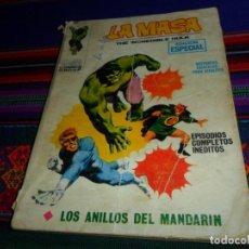 Cómics: VÉRTICE VOL. 1 LA MASA Nº 3 CON CORONEL FURIA. 25 PTS. 1970. LOS ANILLOS DEL MANDARÍN.. Lote 150723858