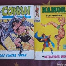 Cómics: COMIC.SUPER HEROES.MARVEL.CONAN Y NAMOR.DOS CONTRA TURAN Y CATASTROFE MENTAL.ED.VERTICE. Lote 151068496
