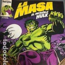 Cómics: LA MASA V3 + RAMPAGING HULK + LA MASA 1 FORUM + INHUMANOS. Lote 151162610