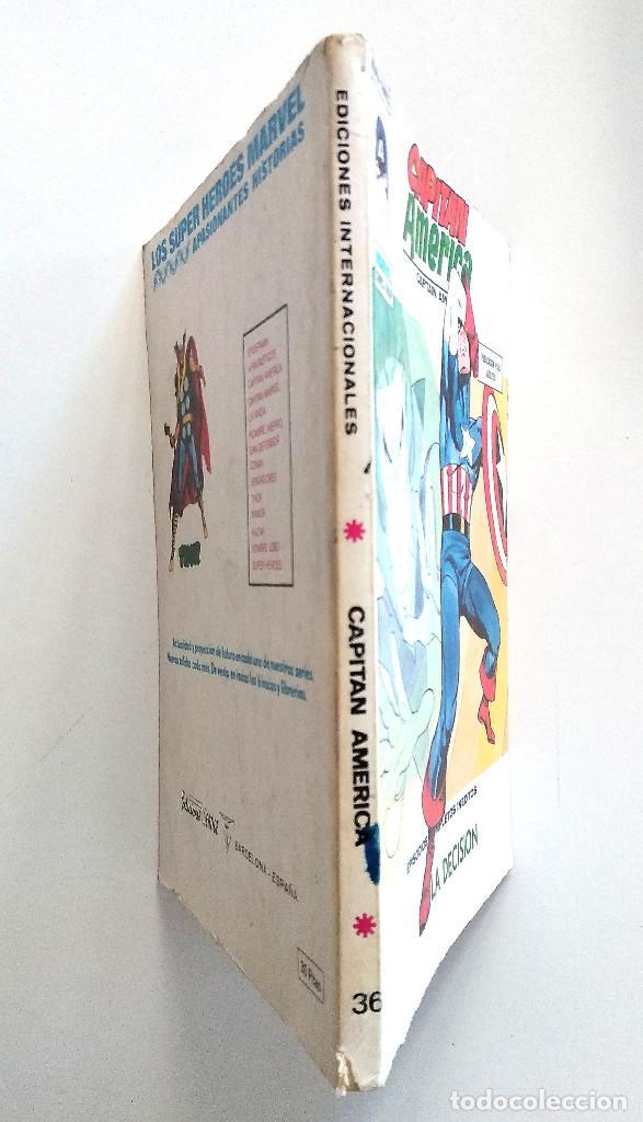 Cómics: CAPITÁN AMÉRICA VOL.1 Nº 36 - EDICIONES VÉRTICE AÑO 1974 - BUEN ESTADO - Foto 2 - 151524078
