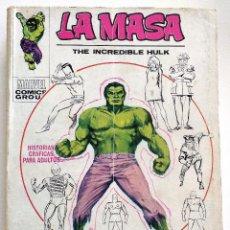 Cómics: LA MASA EDICIÓN GIGANTE - EDICIONES VÉRTICE AÑO 1971 - BUEN ESTADO (VER DESCRIPCIÓN). Lote 151525094