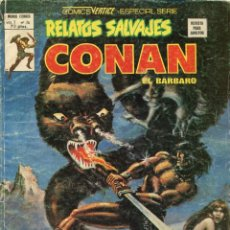 Cómics: RELATOS SALVAJES VOLUMEN 1 NUMERO 74 CONAN EL BARBARO. EL CUBIL DEL GUSANO DE HIELO. Lote 151652866