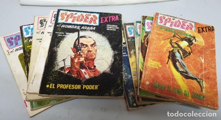 SPIDER EXTRA Nº 4 8 10 12 15 17 18 19 Y 21 ¡ LOTE 9 NUMEROS / VÉRTICE TACO (Tebeos y Comics - Vértice - Otros)