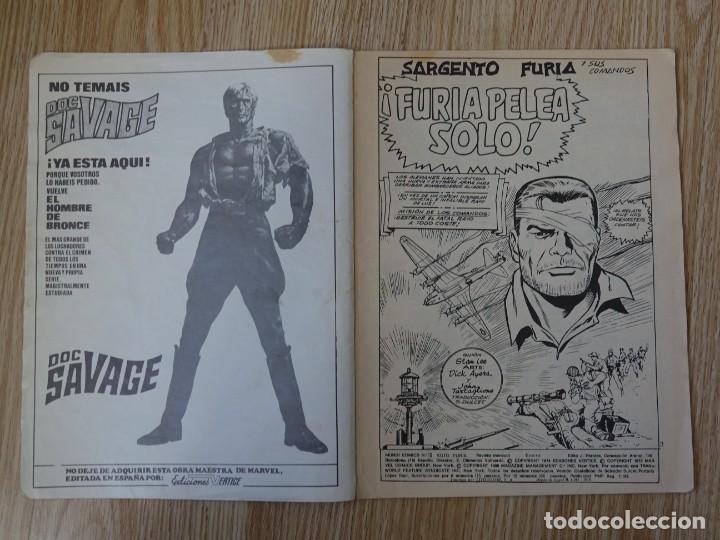 Cómics: Sargento Furia vol.2 nº 18 Vértice Mundi comics Furia pelea solo Marvel group V.2 año 1983 - Foto 4 - 154720122