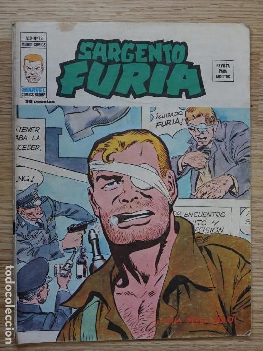 SARGENTO FURIA VOL.2 Nº 18 VÉRTICE MUNDI COMICS FURIA PELEA SOLO MARVEL GROUP V.2 AÑO 1983 (Tebeos y Comics - Vértice - Furia)