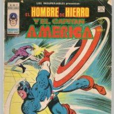Cómics: LOS INSUPERABLES, PRESENTAN: EL HOMBRE DE HIERRO / CAPITÁN AMÉRICA. V.1. Nº 11. MUNDI COMICS.(ST/A2). Lote 155387606