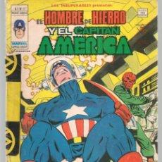 Cómics: LOS INSUPERABLES, PRESENTAN: EL HOMBRE DE HIERRO / CAPITÁN AMÉRICA. V.1. Nº 13. MUNDI COMICS.(ST/A2). Lote 155387766