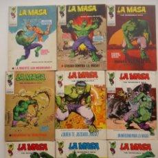 Cómics: 9 EJEMPLARES DE LA MASA, VERTICE, MARVEL COMICS GROUPS, DE LOS PRIMEROS AÑOS.. Lote 155410586