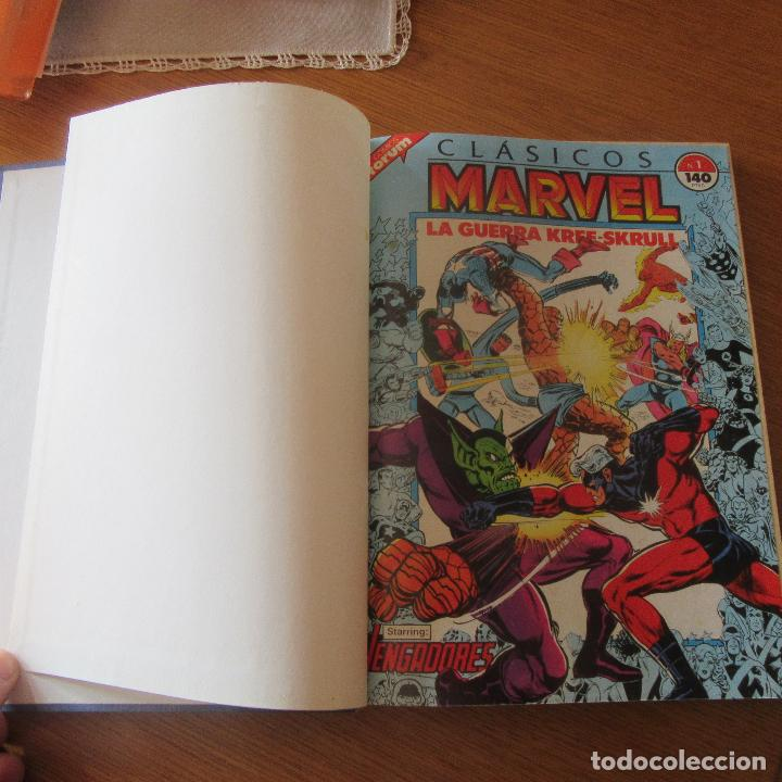 LOTE COMICS ENCUADERNADOS CLASICOS MARVEL VENGADORES Nº1 - 11 (Tebeos y Comics - Vértice - Vengadores)