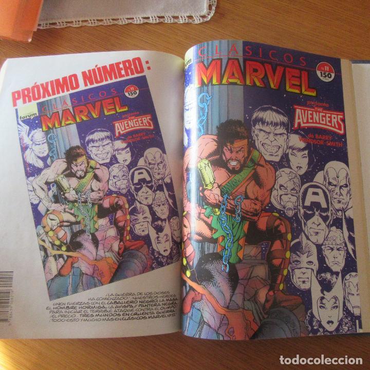 Cómics: Lote comics encuadernados clasicos marvel vengadores nº1 - 11 - Foto 2 - 155697278